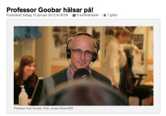 Ariel Goobar on the radio