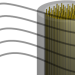 a cylindrical bundle of wires where the space between them can vary